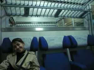 Dalam kereta menuju Venice.